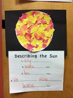Sun Activity.  Look at post to see the 'sun pocket' that the kids wrote notes in and wore around their neck.