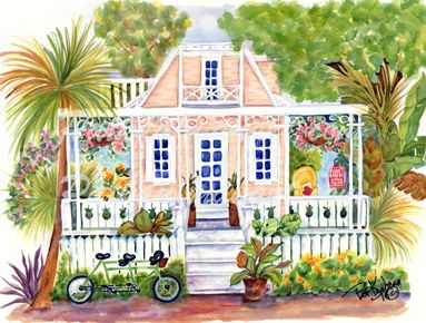 cottages and beach living paintings Cottage by the Sea VII