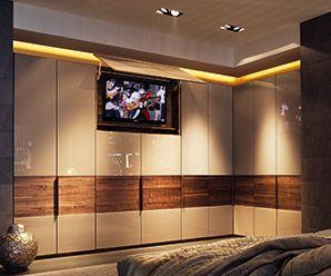 Interior luxury wardrobe fittings