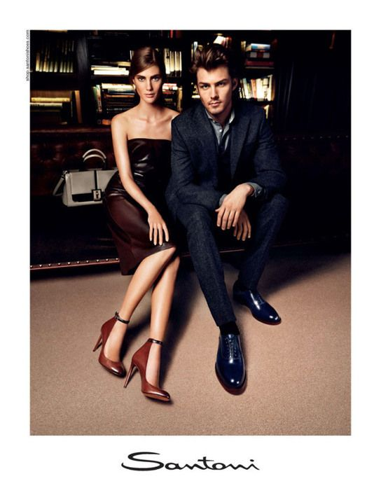 Santoni Fall/Winter 2013 Campaign featuring Lindsay Lullman and Jake Madden