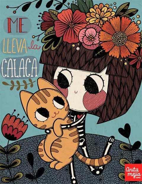 Anita Mejia Dibujo esqueleto gato