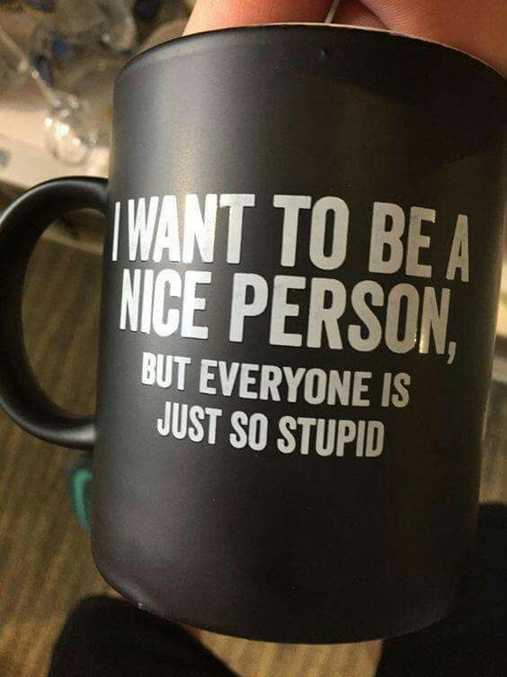 I want to be a nice person...