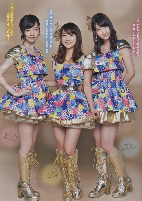 AKB48: The great thing was that these outfits photographed so well on television : )