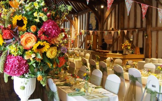 Cafe Sunlight - wedding catering- tables with decoration
