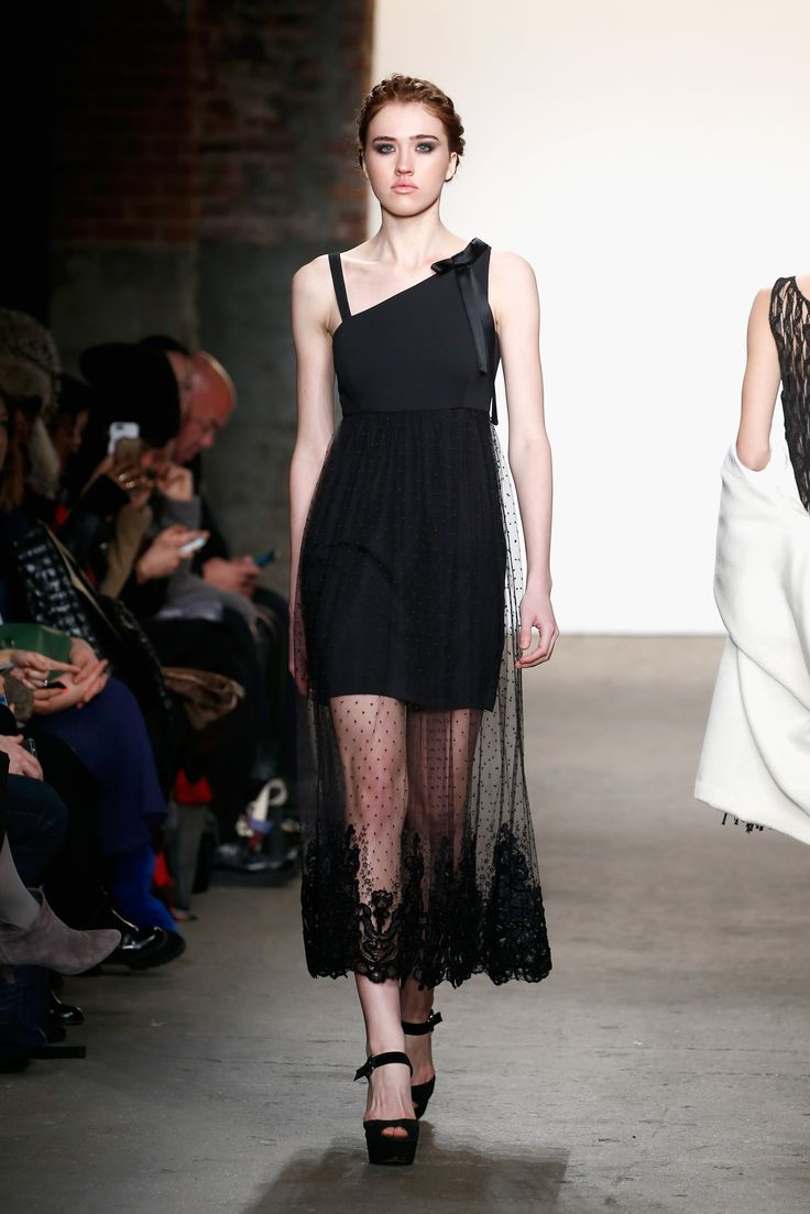 Sustainable fashion in nyc - French Lace And Recycled Polyester Dress At Minan Wong S Fw16 Runway Show Sustainable Fashion