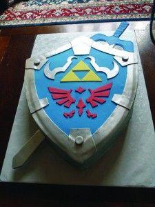Cakes by Mom and Me - Ledgend of Zelda Hylian Sheild Cake