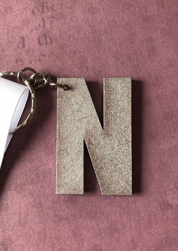 Initial keyring, letter keychain, initial gift, letter theme