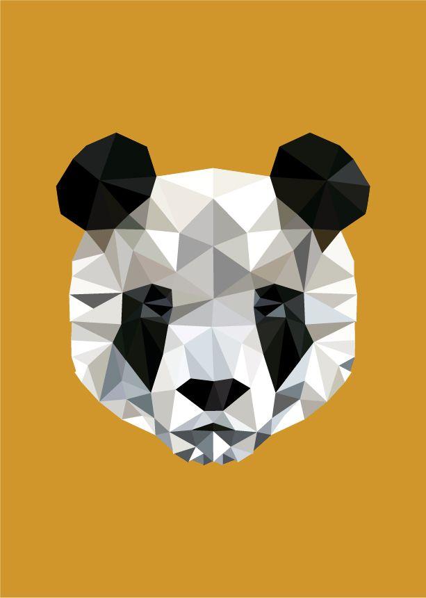 Mr Wolf & Co. – Geometric Panda Print