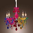 artísticas luces colgantes de acrílico con acabado cromado 5 luces de arco iris de diseño - EUR € 90.74