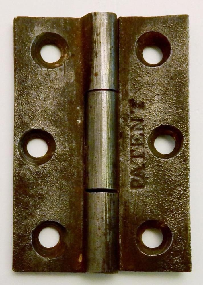 Antique Cast Iron PATENT Cupboard Cabinet Door Hinge 2