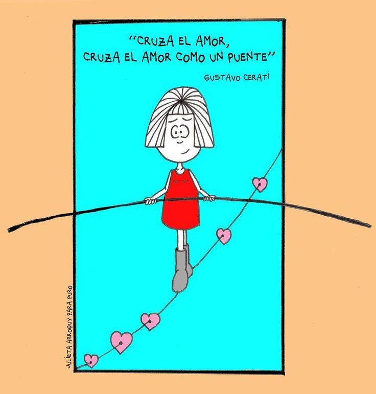 Julieta Arroquy. Cruza el amor como un puente.