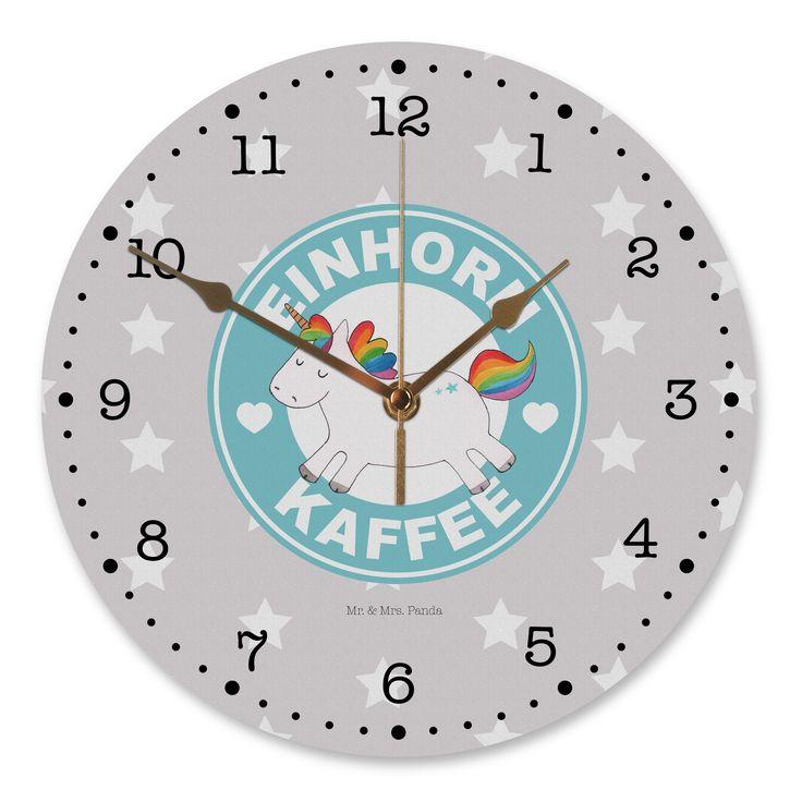 30 cm Wanduhr Einhorn Kaffee aus MDF  Weiß - Das Original von Mr. & Mrs. Panda.  Diese wunderschöne Uhr von  Mr. & Mrs. Panda wird liebeveoll in unserem Hause bedruckt und an sie versendet. Sie ist das perfekte Geschenk für kleine und große Kinder, Weltenbummler und Naturliebhaber. Sie hat eine Grösse von 30 cm und ein absolut LAUTLOSES Uhrwerk.    Über unser Motiv Einhorn Kaffee      Verwendete Materialien  Gefertigt aus widerstandsfähigem und hochwertigen Materialien    Über Mr. & Mrs…