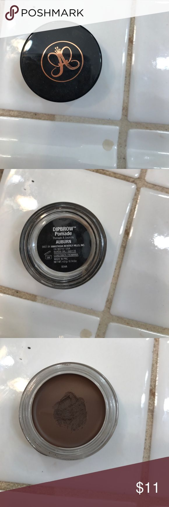 Anastasia Dip Brow Auburn Used two times. Authentic. Bought at Sephora but not my color. Anastasia Beverly Hills Makeup Eyebrow Filler