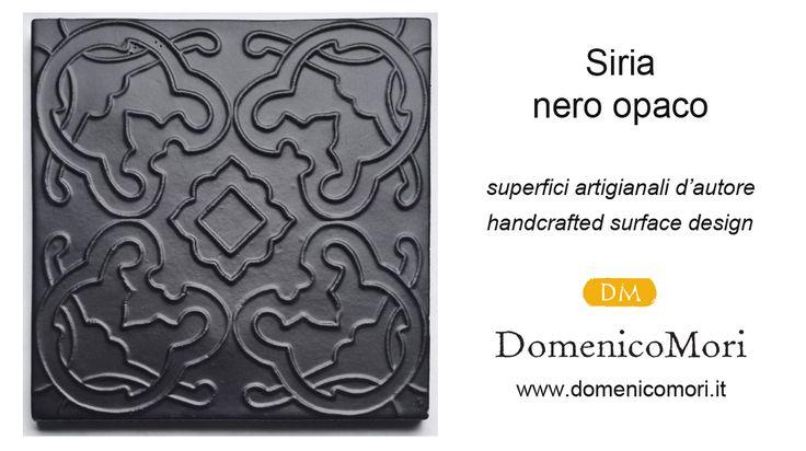 """""""Siria"""" matt black """"Le mille e una notte"""" collection #DomenicoMori handcrafted surface design."""