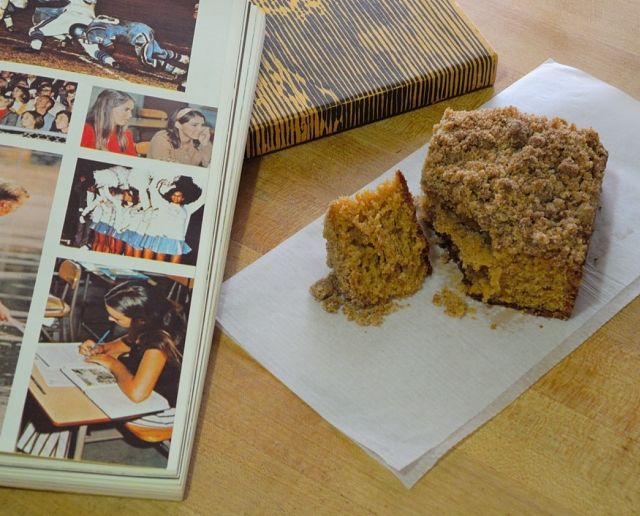 LAUSD Coffee Cake - The BEST coffee cake ever. I had it in the 1960s at Charles Evans Hughes Junior High in Woodland Hills, CA. They served it every morning at our Nutrition break and a HUGE piece was only a nickel.
