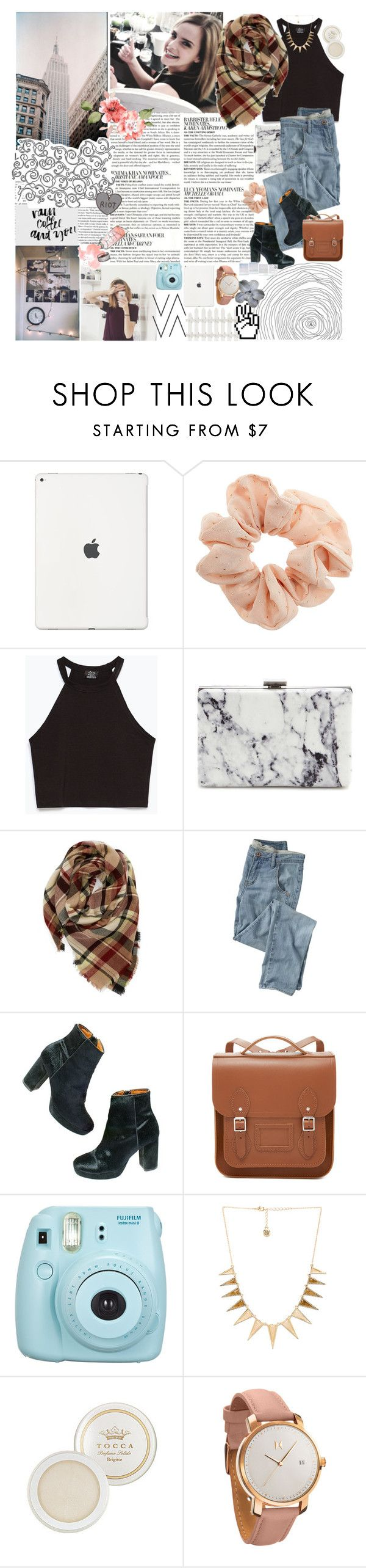 """""""i wanna be your left hand man."""" by k-rista ❤ liked on Polyvore featuring Emma Watson, McGinn, Topshop, Zara, Balenciaga, Evelyn K, Wrap, Madewell, Sugoi and The Cambridge Satchel Company"""