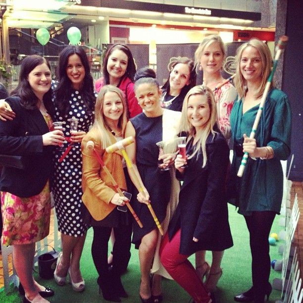 Lovely Ladies enjoying #BBMinis and croquet