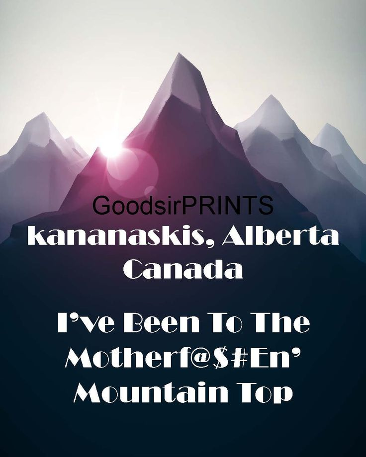 A personal favorite from my Etsy shop https://www.etsy.com/ca/listing/243854774/kananaskis-alberta-canada-ive-been-to