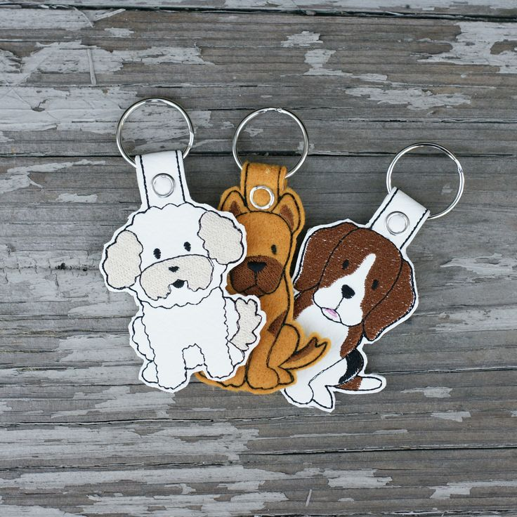 In The Hoop Dog Breed Key Fob. Pack of 18. | Embroidery Super Deal