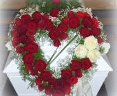 Hjerte fra lister begravelsesbyrå