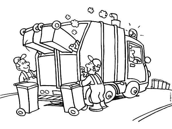 Garbage Truck Coloring Page Coloring Pages Garbage Truck Garbage