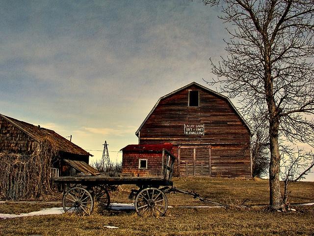 Livery barn, 1917 - 1967 : rowley ghost town, alberta, canada