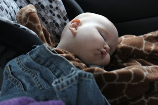 7 Tips for Road-tripping with a crawling baby: only travel four hours a day?!?! Yah right. But good idea to have an old sheet handy to allow baby to crawl around at rest stops.