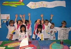 Een Villa Zebra kinderfeestje €9,50 per kind (speciale ontvangst, begeleid bezoek tentoonstelling, deelname speciale workshop, limonade met iets lekkers).