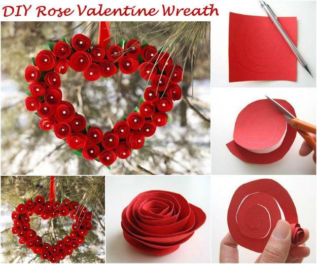 DIY Rose Valentine Wreath