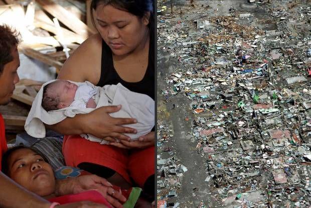 Bayi Ini Lahir di Tengah Kiamat Kecil Filipina. #TopanHaiyan