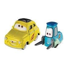Disney Pixar Cars 2 Die-Cast Vehicle - Race Team Guido and Race Team Luigi  Cars in Shadow Box