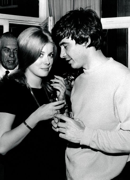 Catherine Deneuve and David Bailey are wed in London, 19 August 1965.