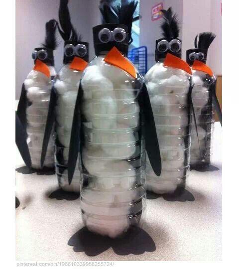 pinguins van plastic fles