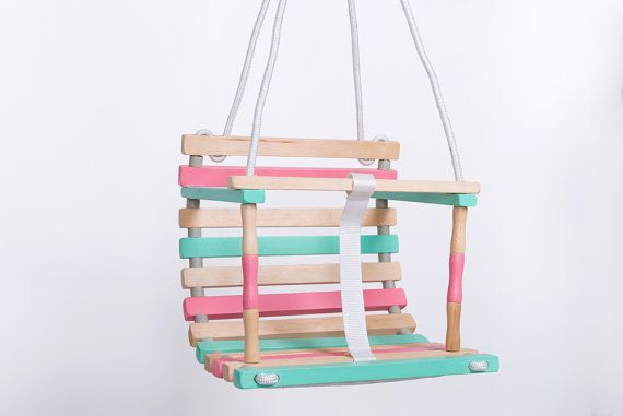 Wooden Baby Swing is perfect for children from 6 months until 3 y.o., 3.75 lbs (17 kg). Wooden Swing helps develop a sense of balance,
