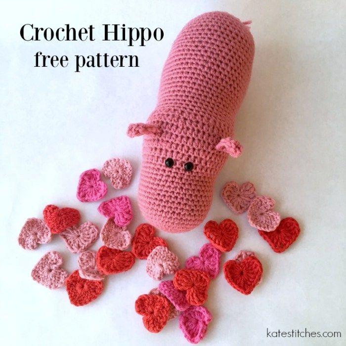 Free crochet hippo pattern!                                                                                                                                                                                 More
