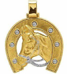 Nelcy Joias Pingente Ferradura Com Cabeça De Cavalo Ouro 18k - R$ 1.400,00