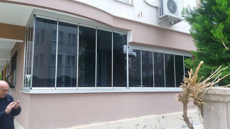 Sürülüp Katlanabilen yer işgal etmeyen su ve rüzgar geçirmeyen cam balkon sistemleri