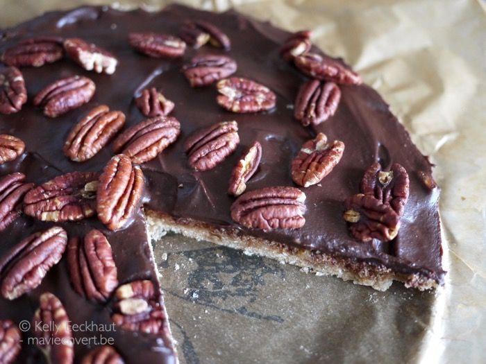 Pecan-chocoladetaart - Ma vie en vert