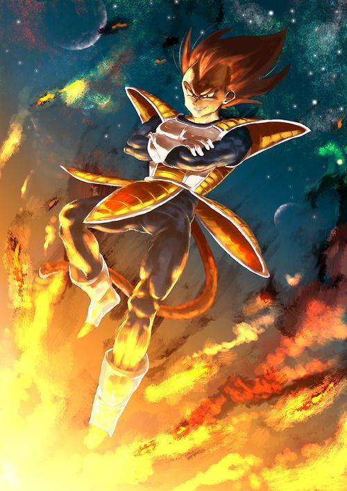 DBZ Vegeta / set the world on fire ♥ Also see #fantasy pics www.freecomputerdesktopwallpaper.com/wfantasy.shtml