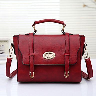 Women's+Fashion+Vintage+PU+Leathe+Messenger+Shoulder+Bag/Tote+–+NOK+kr.+166