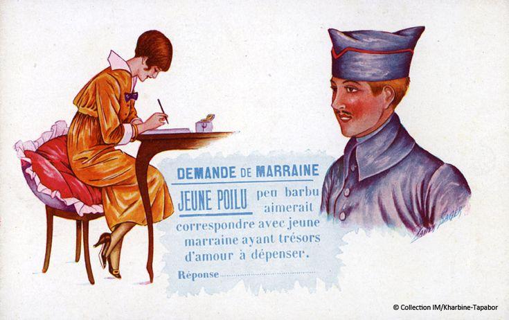 Carte postale demande de marraine