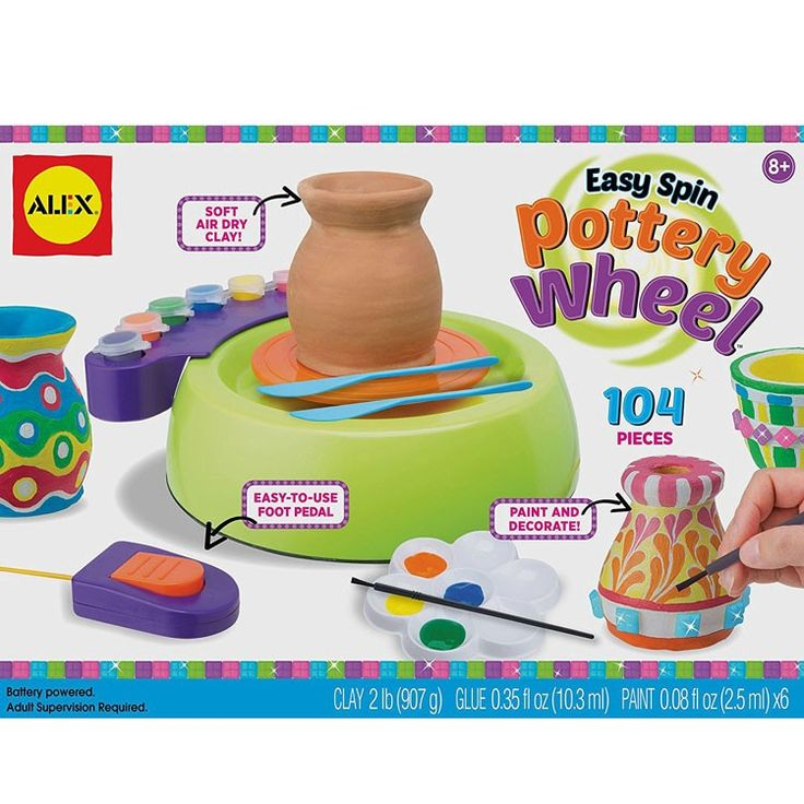 Spin The Pottery Wheel To Make And Decorate Your Own Creations With 104 Pieces From MakingAlex ToysCraft KitsCraft SuppliesPottery