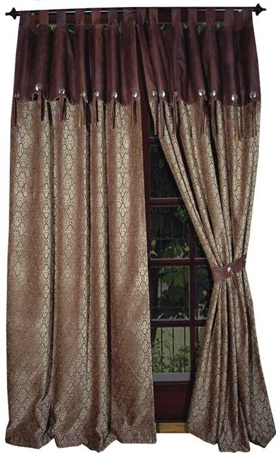 western style curtains (I like but without the valence)
