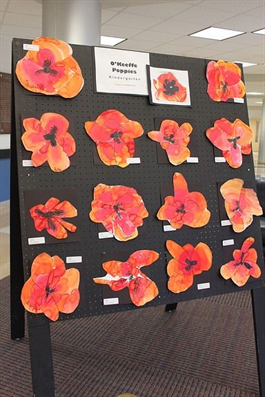 kindergarten okeeffe poppies