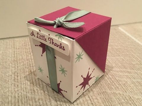 Star of Light Flip Lid Box, Video Tutorial, October Customer Thank You Gift - YouTube