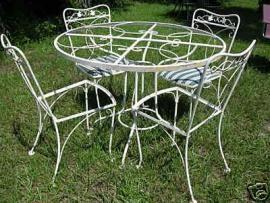 Lyon Shaw Wrought Iron Vintage Patio Furniture In 2018