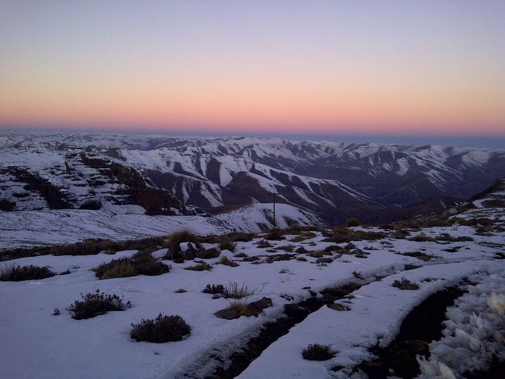 Snow in Lesotho - the Kingdom of the Sky