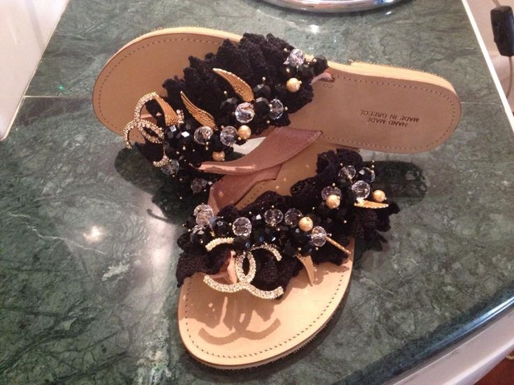 CHANEL sandal with precious stones - Hellenic Handmade Sandal by Katerina & Angeliki Pipi