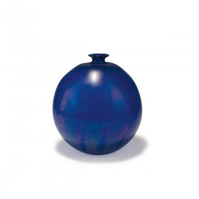 Leerdam, Andries Dirk Copier. Unica vase, 1926. Cobalt blue glass, optically blown.