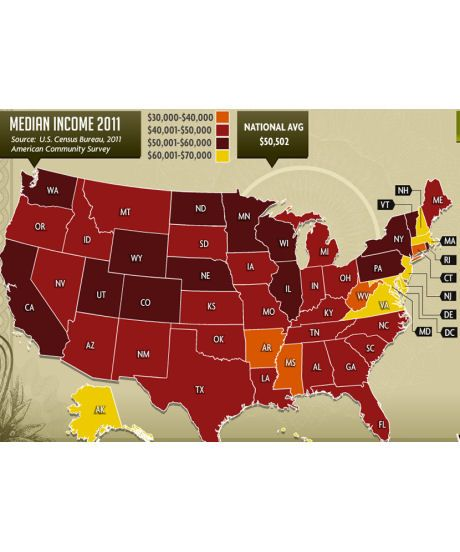 Map Shows Richest Poorest And Happiest States
